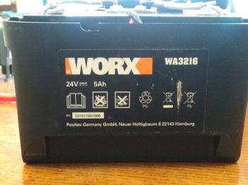 Repase baterie pro sekačku Worx WA3216 24V 5Ah Pb