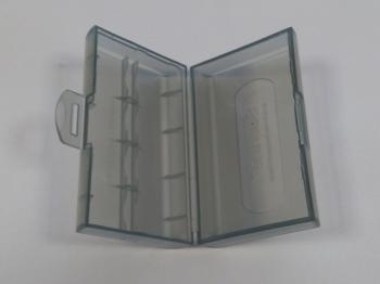 Krabička na 2ks baterie velikosti 18650, barva šedá