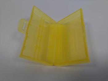 Krabička na 2ks baterie velikosti 18650, barva žlutá