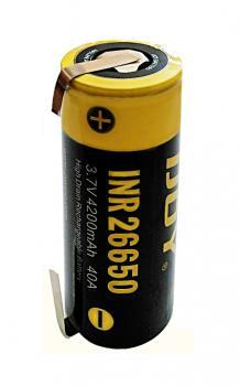 Baterie Li-ion INR26650 iJoy 4200mAh 3,7V 40A/85A - s vývody do U