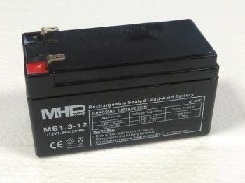 MHPower 12V 1,3Ah olověný akumulátor F1 MS1.3-12