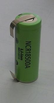 Nabíjecí baterie 18500 Li-ion 3,7V 2000mAh Panasonic NCR18500A s vývody do U