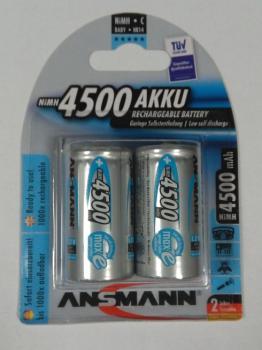 Nabíjecí baterie velikosti C Ni-MH Ansmann 4500mAh balení 2 ks