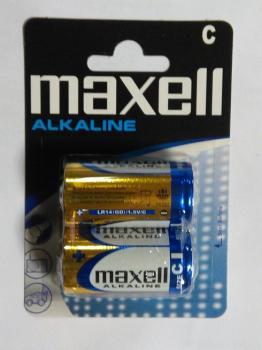 Nenabíjecí baterie Maxell Alkaline velikosti C (LR14) 1,5V balení 2ks