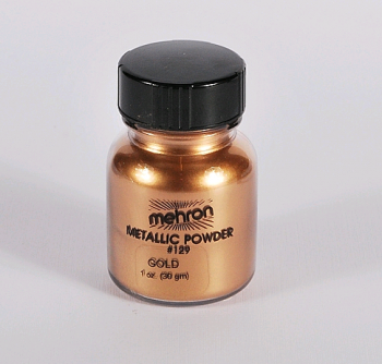 MEHRON pudr pigment na tělo - metalická ZLATÁ powder 30g