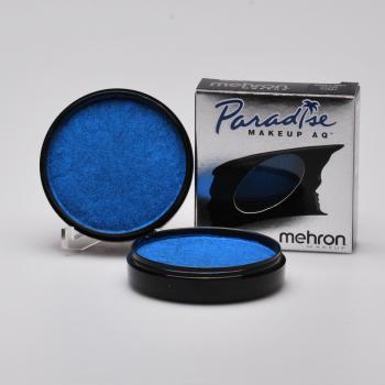 MEHRON cake barva na obličej a tělo modrá metalická AZUR BLUE 40g