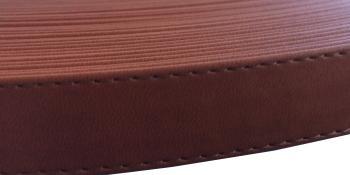 Pásek na tašky plochý 17mm kaštanový (1m)