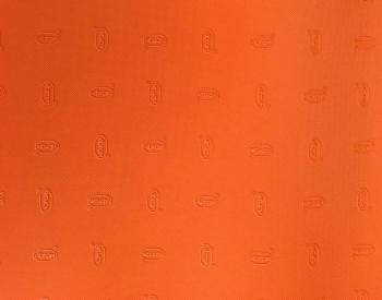 Plotna VIBRAM 1mm (32x25) oranžová s kůží