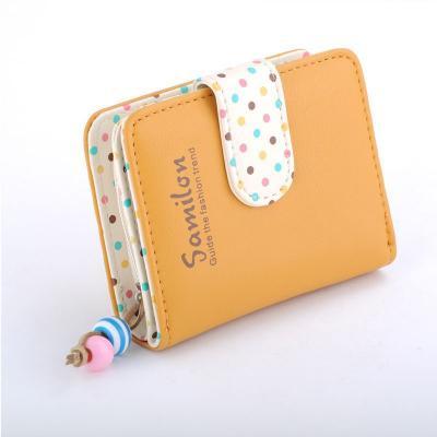 Kožená peněženka - žlutá
