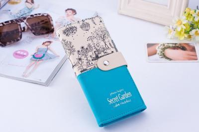 Dámská peněženka - modro béžová