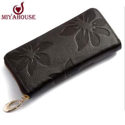 Kožená elegantní peněženka - černá