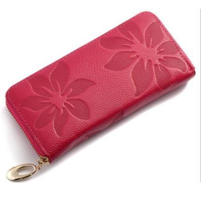 Kožená elegantní peněženka - červená