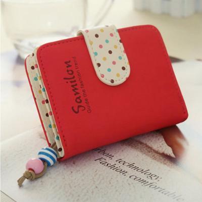 Kožená peněženka - červená