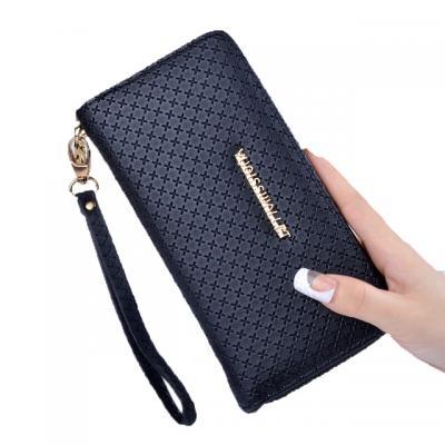 Elegantní koženková peněženka - tmavě modrá