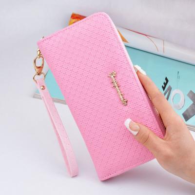 Elegantní koženková peněženka - světle růžová