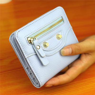 Malá elegantní peněženka - modrá