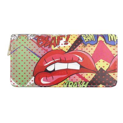 Barevná koženková peněženka