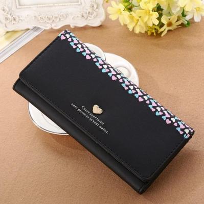 Dlouhá koženková peněženka - černá