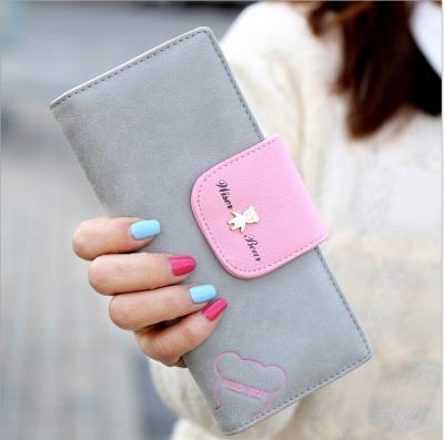 Dlouhá koženková peněženka - šedá