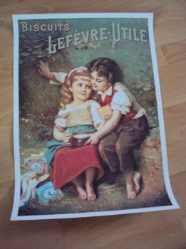 Plakát biscuits Lefévre-Utile