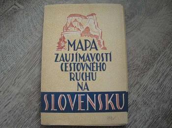Mapa zajímavostí cestovního ruchu na Slovensku