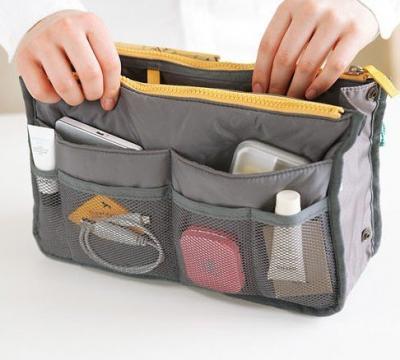 Praktický pořadač do kabelky - barva šedá