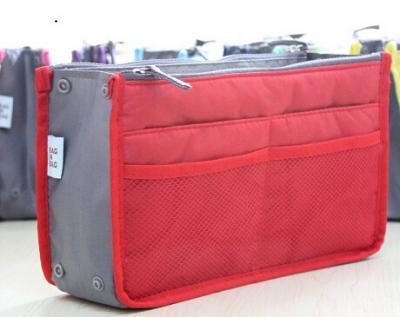 Praktický pořadač do kabelky - barva červená