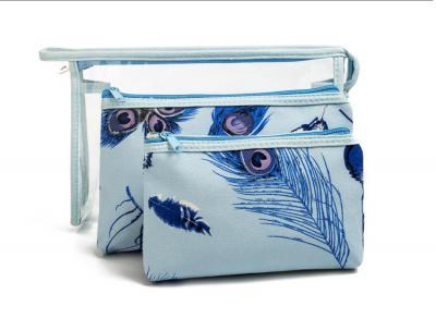 Set kosmetických taštiček - modrý