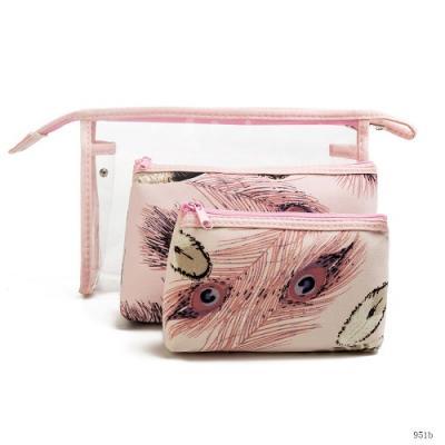 Set kosmetických taštiček - růžový