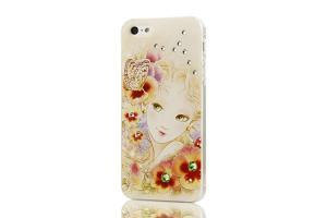 Nádherný originální barevný kryt na iPhone 5/5S s kamínky