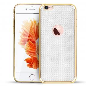 Třpytivý silikonový kryt na iPhony, Samsungy, Huawei - zlatý