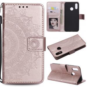 Koženkový obal na Huawei P20 lite -  růžovo zlatý