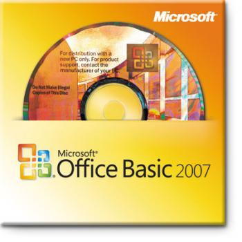 Microsoft Office Basic 2007 CZ OEM