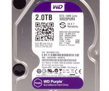 """WD PURPLE WD20PURX HDD, 3.5"""", SATA 6Gb/s, 2TB"""