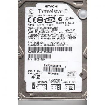 "HDD Hitachi Travelstar 5K100, 2.5"", 80 GB, 5400 RPM, U-ATA, HTS541080G9AT00"